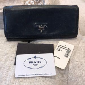 8502066b37b6 Women s Blue Prada Leather Wallet on Poshmark